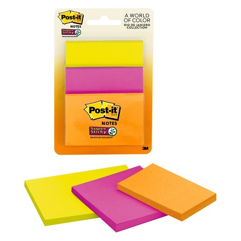 Post-It® Notes, Super Sticky, 3ct - Jewel Tones - image 1 of 2