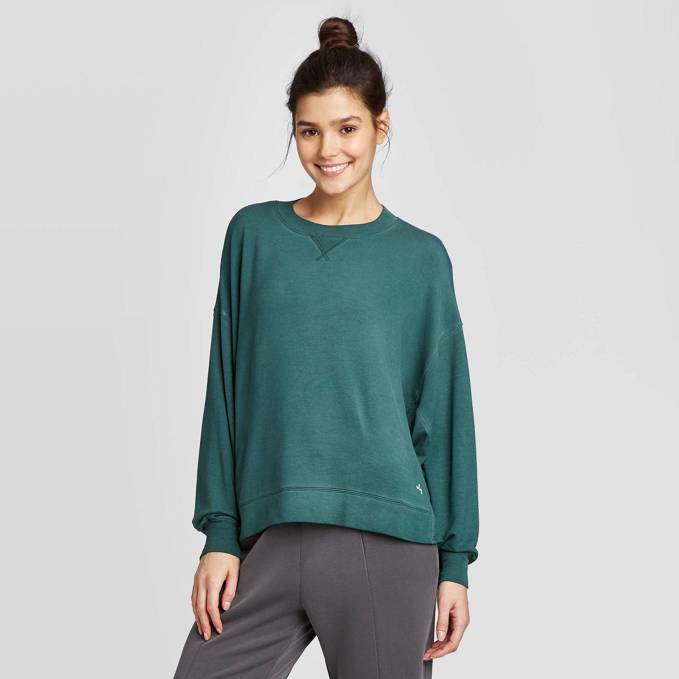 Women's Cozy Long Sleeve Sweatshirt - JoyLab™ - image 1 of 5