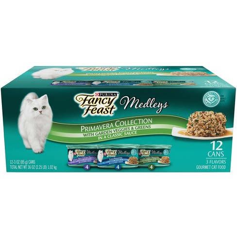 Purina® Fancy Feast Elegant Medleys Primavera Collection Variety Pack Wet Cat Food - 3oz cans / 12ct - image 1 of 3
