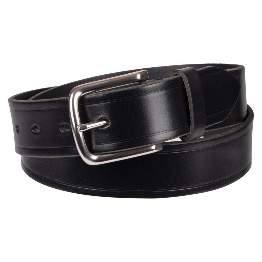 Men's 35mm Waxy Stitch Basic Belt - Goodfellow & Co Black XL, Size: XL (40-44)