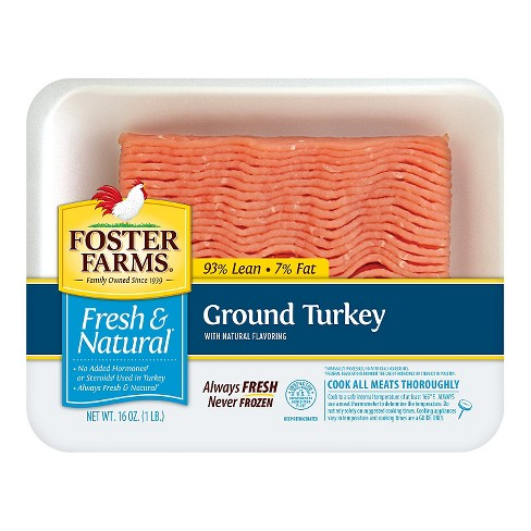 Foster Farms Fresh and Natural 93/7 Ground Turkey -16oz - image 1 of 1
