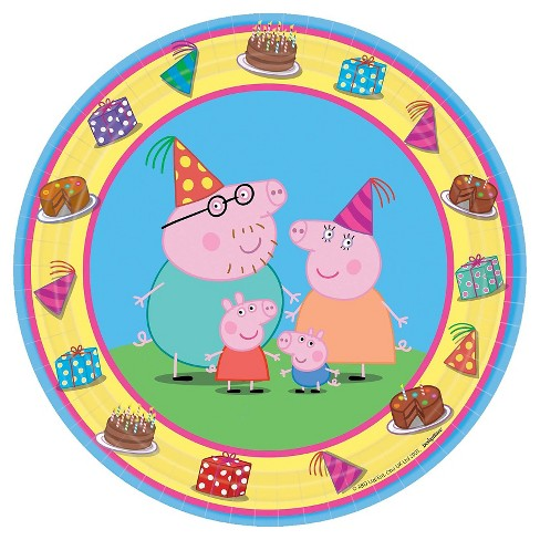 8 ct Peppa Pig Paper Dessert Plates - image 1 of 1
