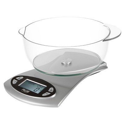 American Weigh Scales Kitchen Pro 11lbs Digital Bowl Kitchen Scale with Timer and Thermometer