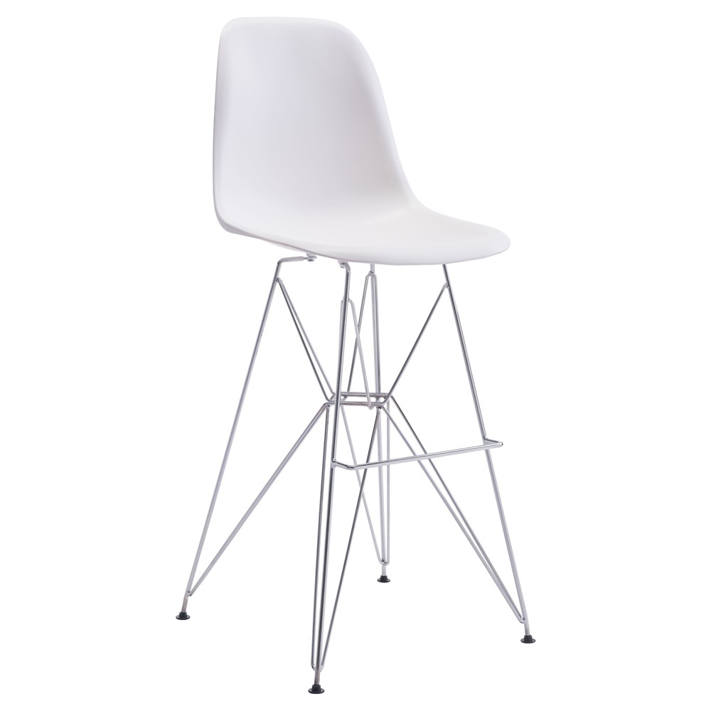 29 Mid-Century Modern Bar Chair - White - ZM Home