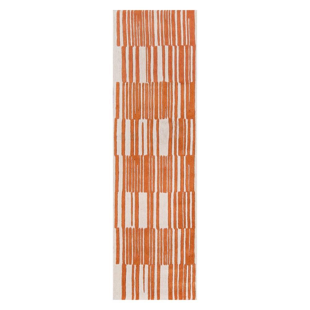 2'3X8' Stripe Tufted Runner Orange - Momeni