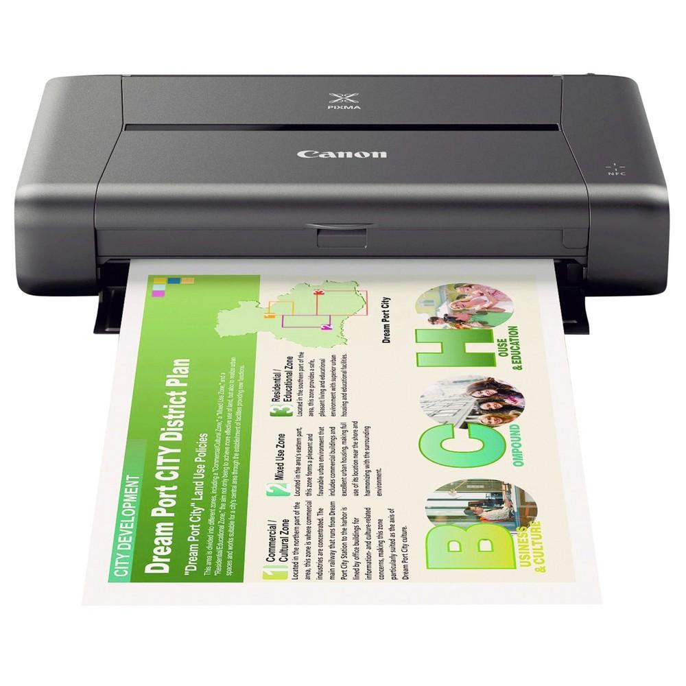 Canon Pixma iP110 Color Inkjet Printer - Black (CNM9596B002)