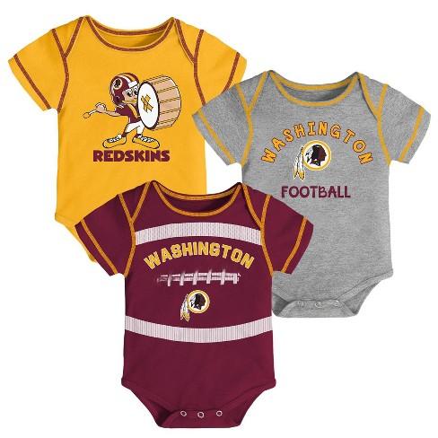197e8b4fb08d NFL Washington Redskins Baby Boys' Newest Fan 3pk Bodysuit Set