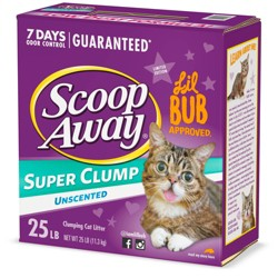 Scoop Away Super Clump Clumping Cat Litter Unscented - 25lb