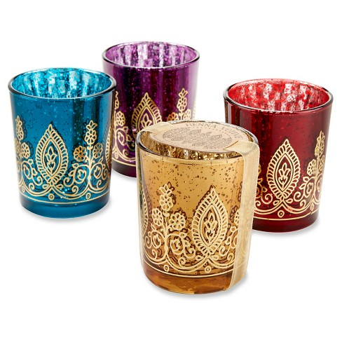 12ct Indian Jewel Henna Votive Multi-Colored - Kate Aspen® - image 1 of 2