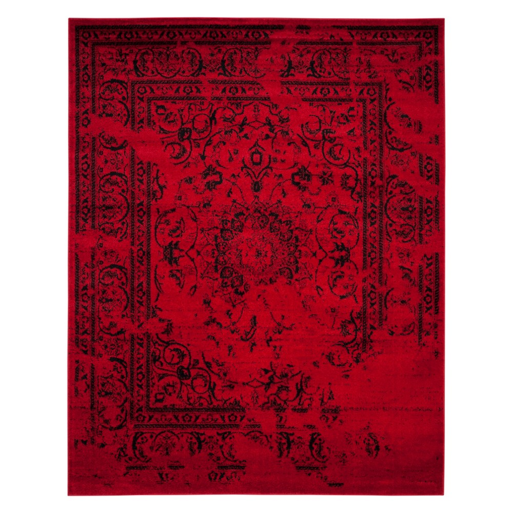 Medallion Area Rug Red/Black