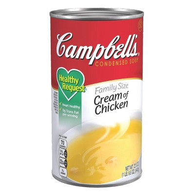 Campbell's Condensed Family Size Healthy Request Cream of Chicken Soup - 22.6oz