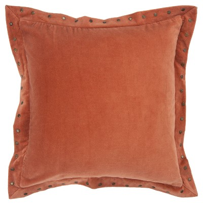 "18""x18"" Solid Square Throw Pillow Cover - Rizzy Home"