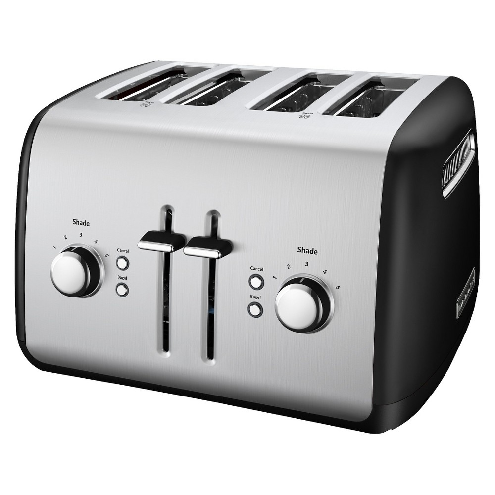 KitchenAid 4-Slice Toaster with Manual High-Lift Lever – KMT4115, Onyx Black 14054652