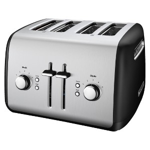 KitchenAid 4-Slice Toaster with Manual High-Lift Lever - KMT4115, Black Black