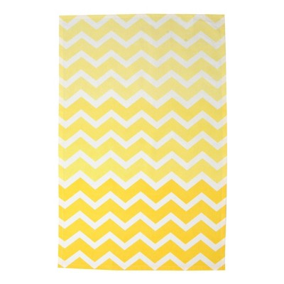 2pk Cotton Chevron Dishtowels Yellow - Design Imports