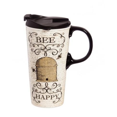 Evergreen Garden Ceramic Perfect Cup w/Box, 17 oz., Bee Happy - image 1 of 1