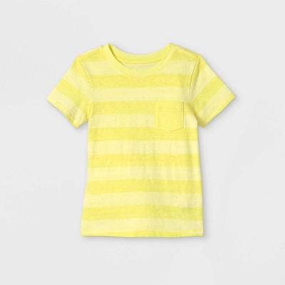 Toddler Boys' Striped Pocket Short Sleeve T-Shirt - Cat & Jack™