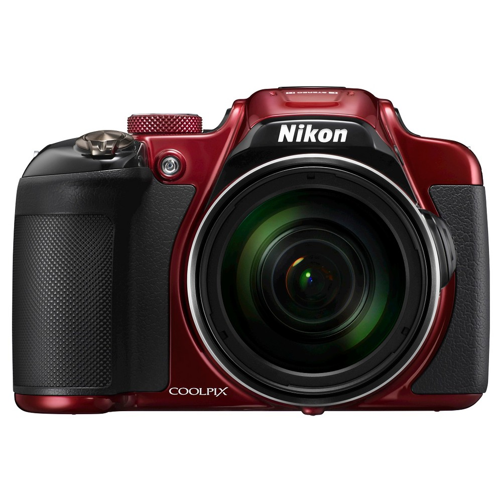 Nikon COOLPIX P610 16MP Digital Camera with 60x Optical Zoom - Red, Black