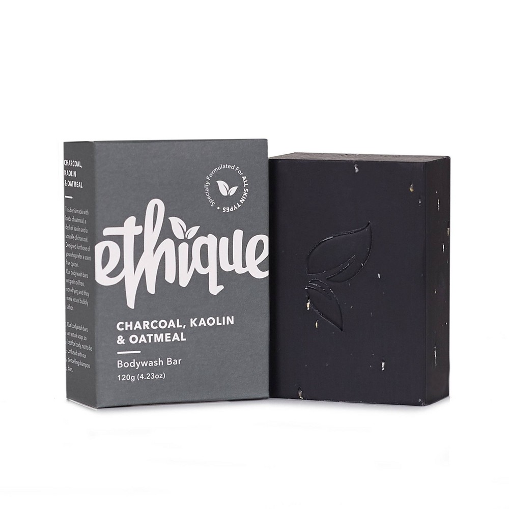 Image of Ethique Eco-Friendly Charcoal, Kaolin & Oatmeal Bodywash Bar - 4.23oz