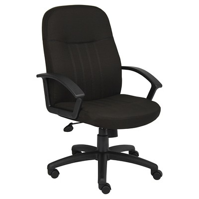 Mid Back Fabric Managers Chair Black - Boss Office Products