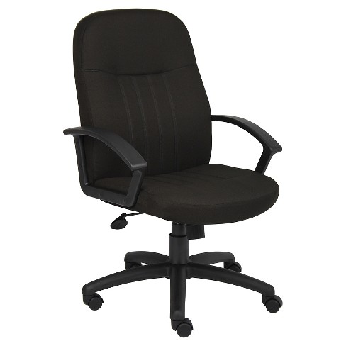 Mid Back Fabric Managers Chair Black - Boss Office Products - image 1 of 2