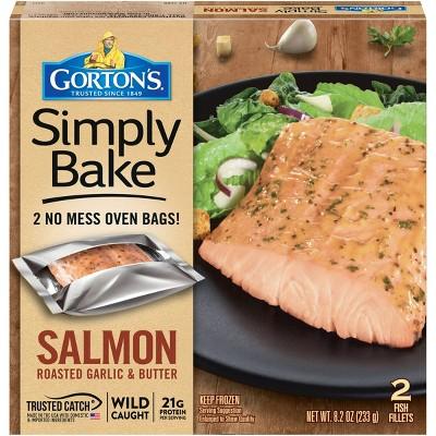 Gorton's Simply Bake Frozen Roasted Garlic & Butter Salmon - 8.2oz