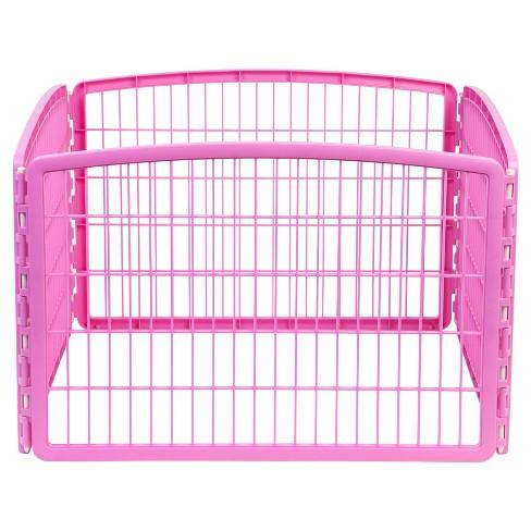IRIS Indoor/Outdoor Plastic Dog Pen - 24in - Pink - image 1 of 4