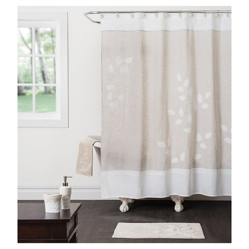 forest path fabric shower curtain beige target. Black Bedroom Furniture Sets. Home Design Ideas