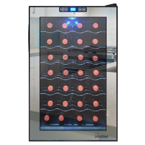 Vinotemp 28-Bottle Thermoelectric Wine Cooler - Black VT-28TSBM - image 1 of 3
