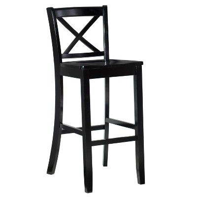 "30"" Torino X Back Wood Barstool - Black - Linon"