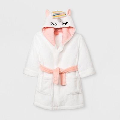 Toddler Girls' Unicorn Robe - Cat & Jack™ White 2T-3T