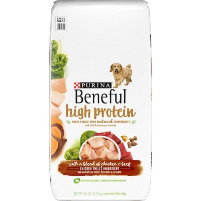 Purina Beneful High Protein with a Blend of Chicken & Beef Dry Dog Food - 26lbs