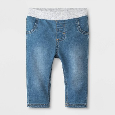 Baby Boys' Light Wash Denim Jeans - Cat & Jack™ Blue 0-3M