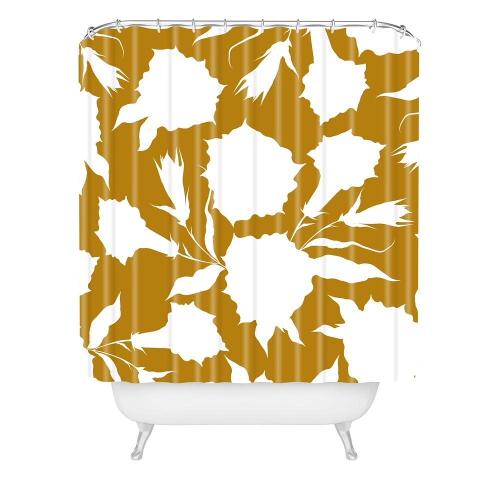 La Jardin Noir VI Shower Curtain Brown - Deny Designs