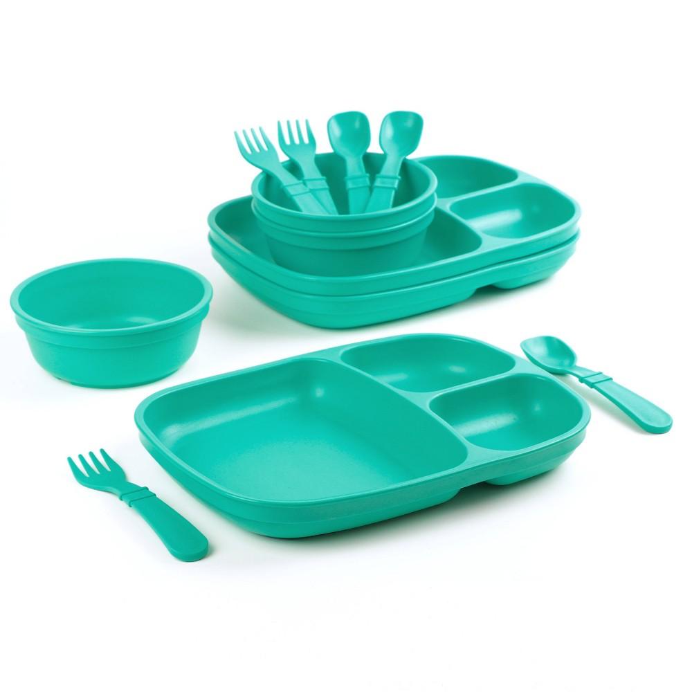 Image of Re-Play Dinnerware Set - Aqua, Blue