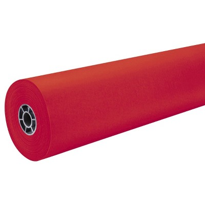 """36"""" x 500' ArtKraft Duo-Finish Paper Roll - Flame Red"""