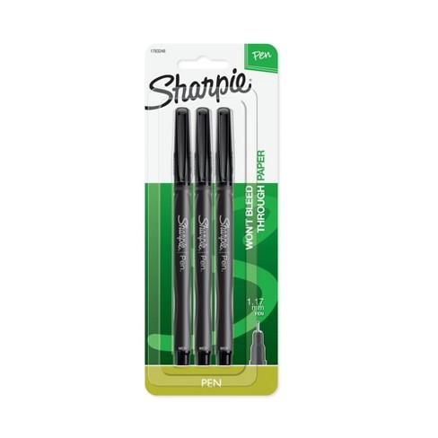 3pk Marker Pens Medium Tip Black - Sharpie - image 1 of 4
