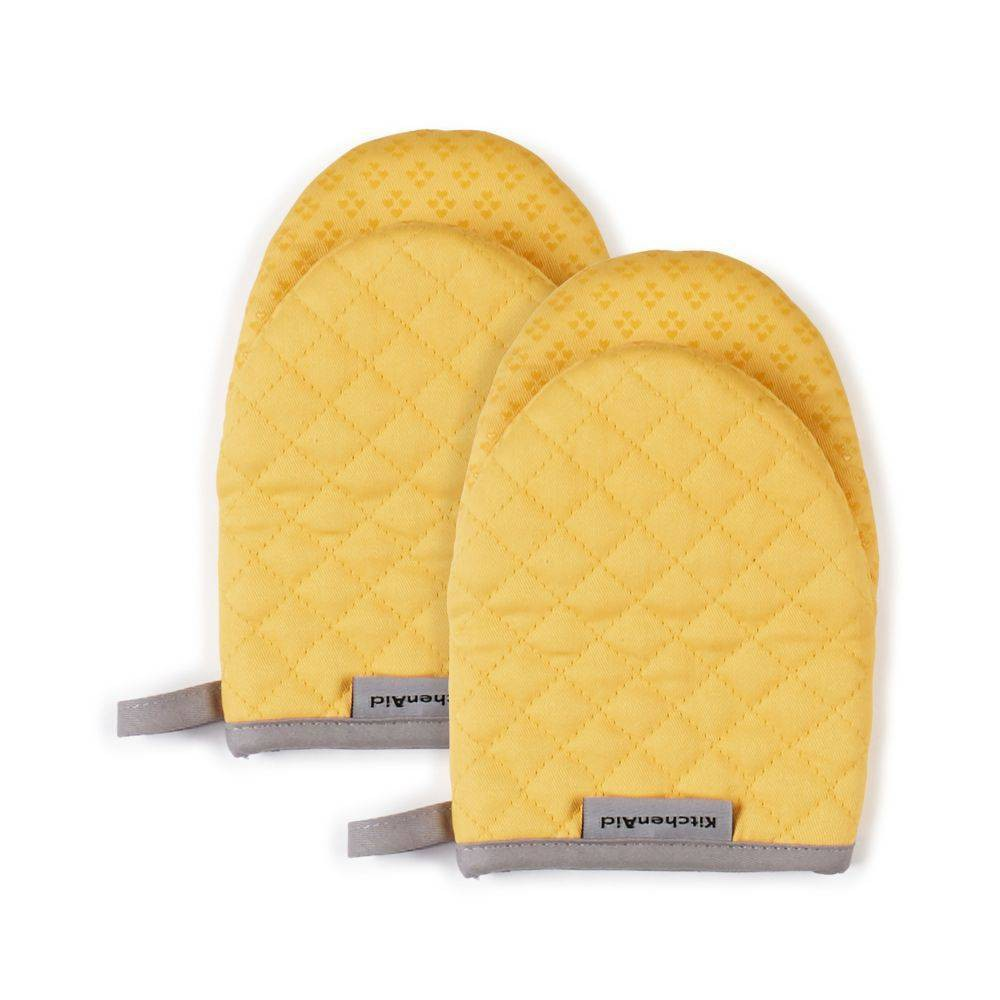 "Image of ""KitchenAid 2pk 5.5""""X8"""" Asteroid Mini Mitts Yellow"""