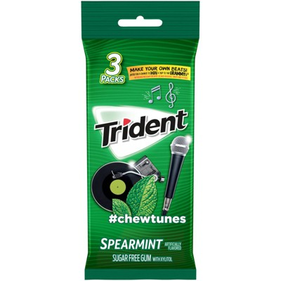 Trident Spearmint Sugar Free Gum - 42ct