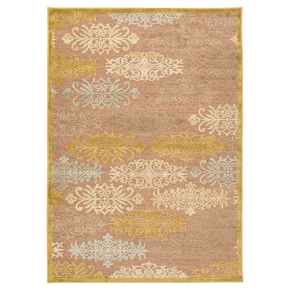 Silver Gray Botanical Tufted Accent Rug - (4'X5'7) - Surya, Lightgray