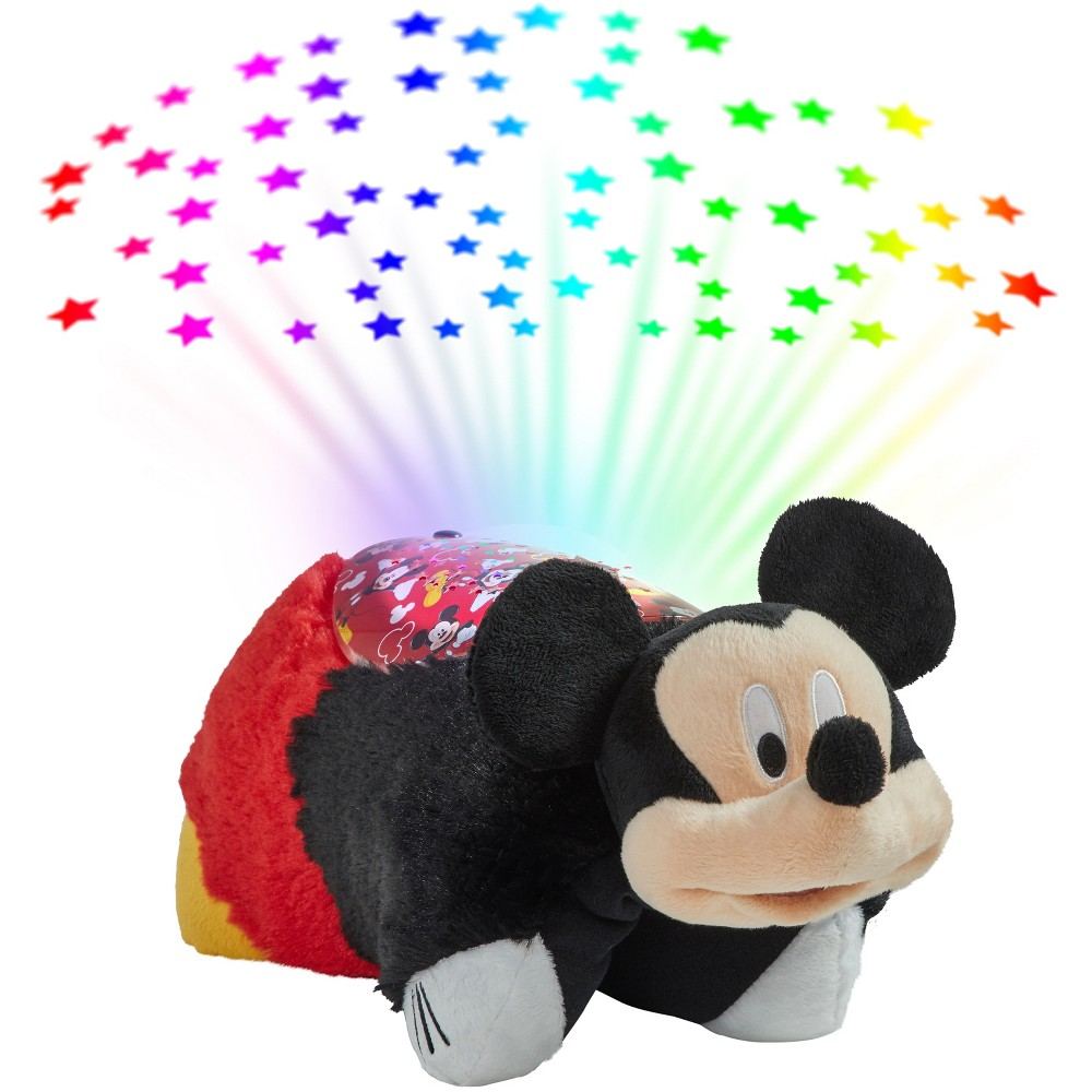 Image of Mickey Mouse & Friends Mickey Mouse Sleeptime Lites Plush Night Light Red - Pillow Pets