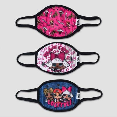 Kids' 3pk L.O.L. Surprise! Masks - Black