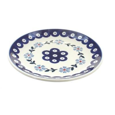 Blue Rose Polish Pottery Blue Violet Dessert Plate