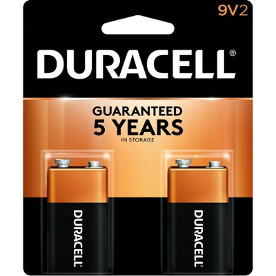 Duracell Coppertop 9V Batteries - 2pk Alkaline Battery