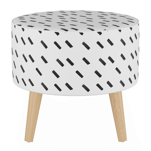 Awesome Samantha Round Ottoman With Splayed Legs Cloth Co Gmtry Best Dining Table And Chair Ideas Images Gmtryco