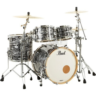 Pearl Music City Custom Masters Maple Reserve 4-Piece Shell Pack Black Oyster Glitter