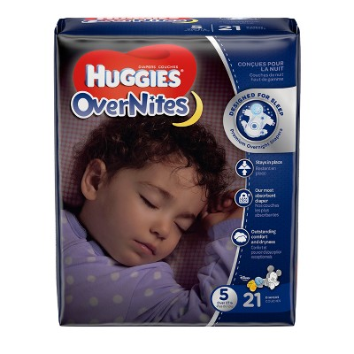 Huggies Overnites Diapers Jumbo Pack - Size 5 (21ct)