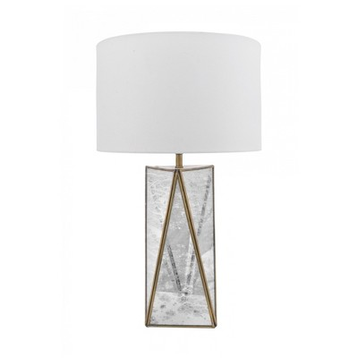 "nuLOOM Brooklyn 20"" Mirror Table Lamp Lighting - Brass 20"" H x 12"" W x 12"" D"