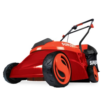 Sun Joe MJ401C-XR-RED Cordless Lawn Mower | 14 inch | 28V | 5 Ah | Brushless Motor (Red).