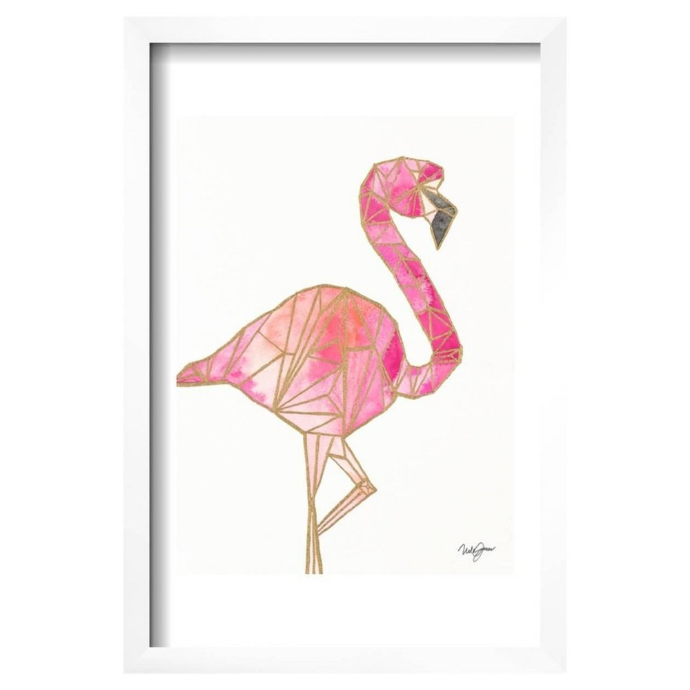 Origami Flamingo by Nola James Framed Poster 13
